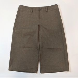 Gap Cropped Capri Size 12 Taupe Career Dress Pants